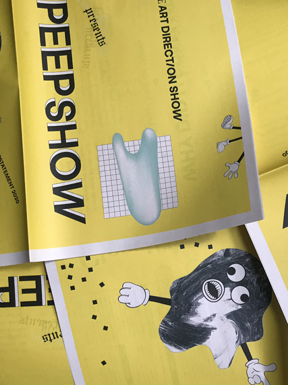 An printed copy of The Art Direction show's paper, Peepshow