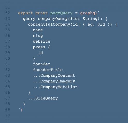 Gatsby GraphQL Code Snippet