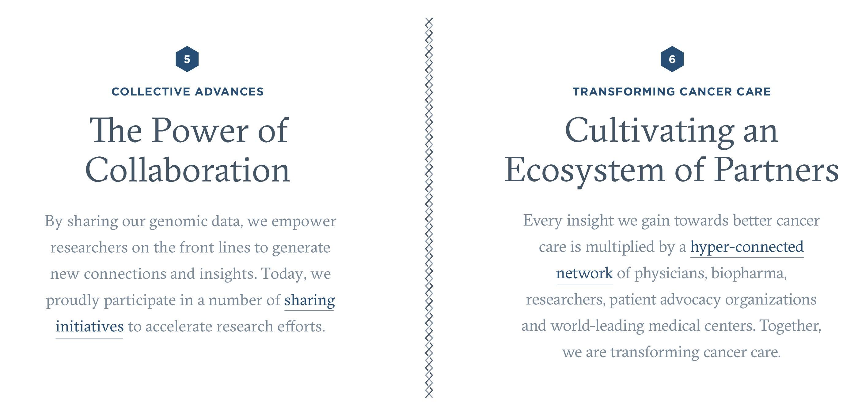 Screenshot of homepage typography