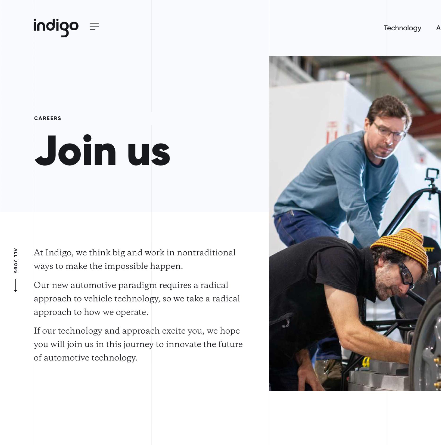 Indigo Careers Page
