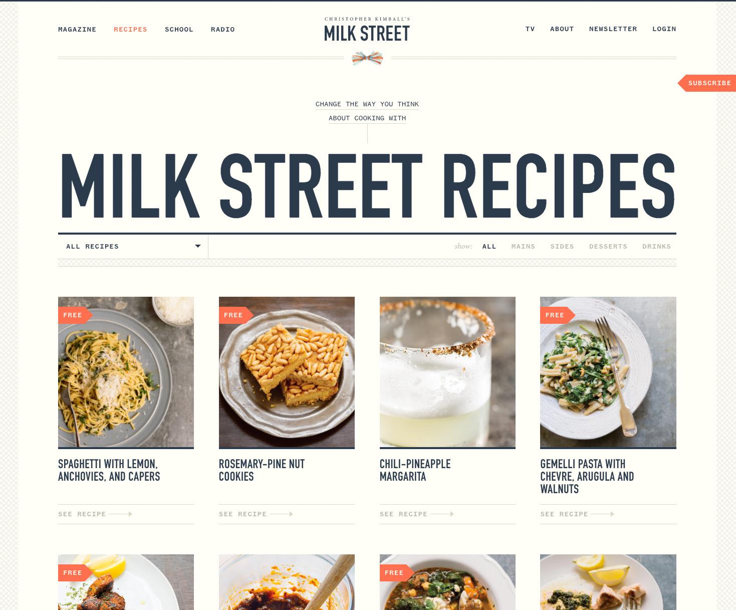 Milk Street Recipe Landing Page