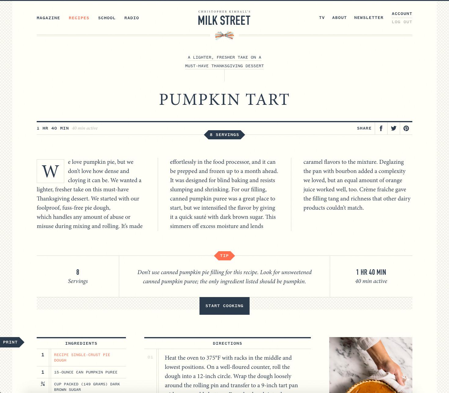 Milk Street Recipe Page