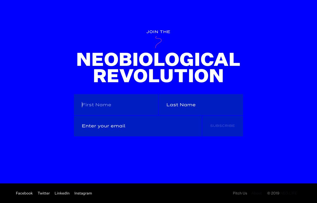 NEOLIFE signup form