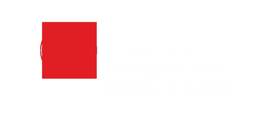 Northeastern Logo: College of Arts, Media, & Design