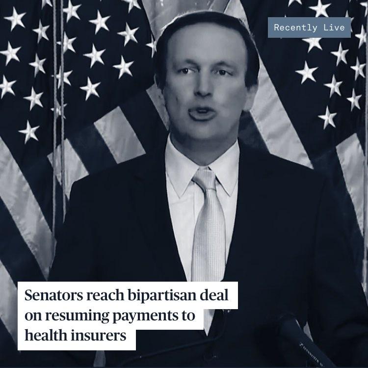 Senate Democrats during a press conference.