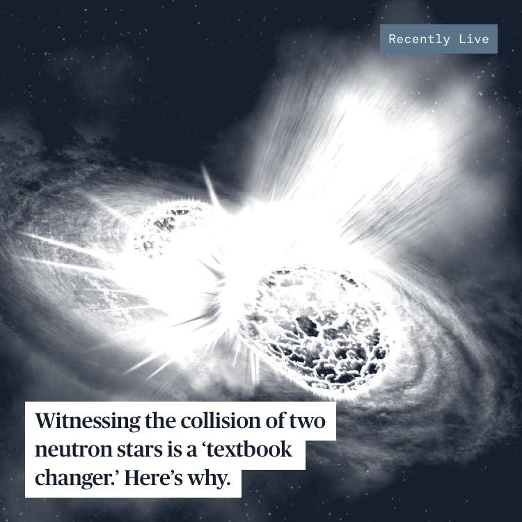 Scientist's rendering of neutron star collision.