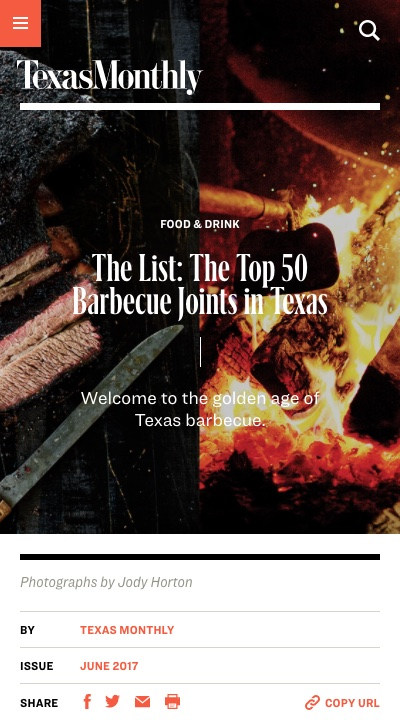 The List: The Top 50 Barbecue Joins in Texas