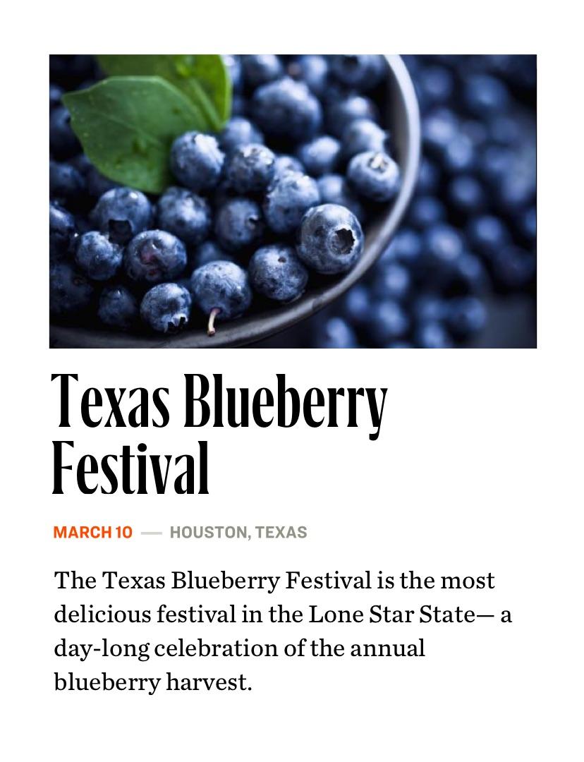 Texas Blueberry Festival