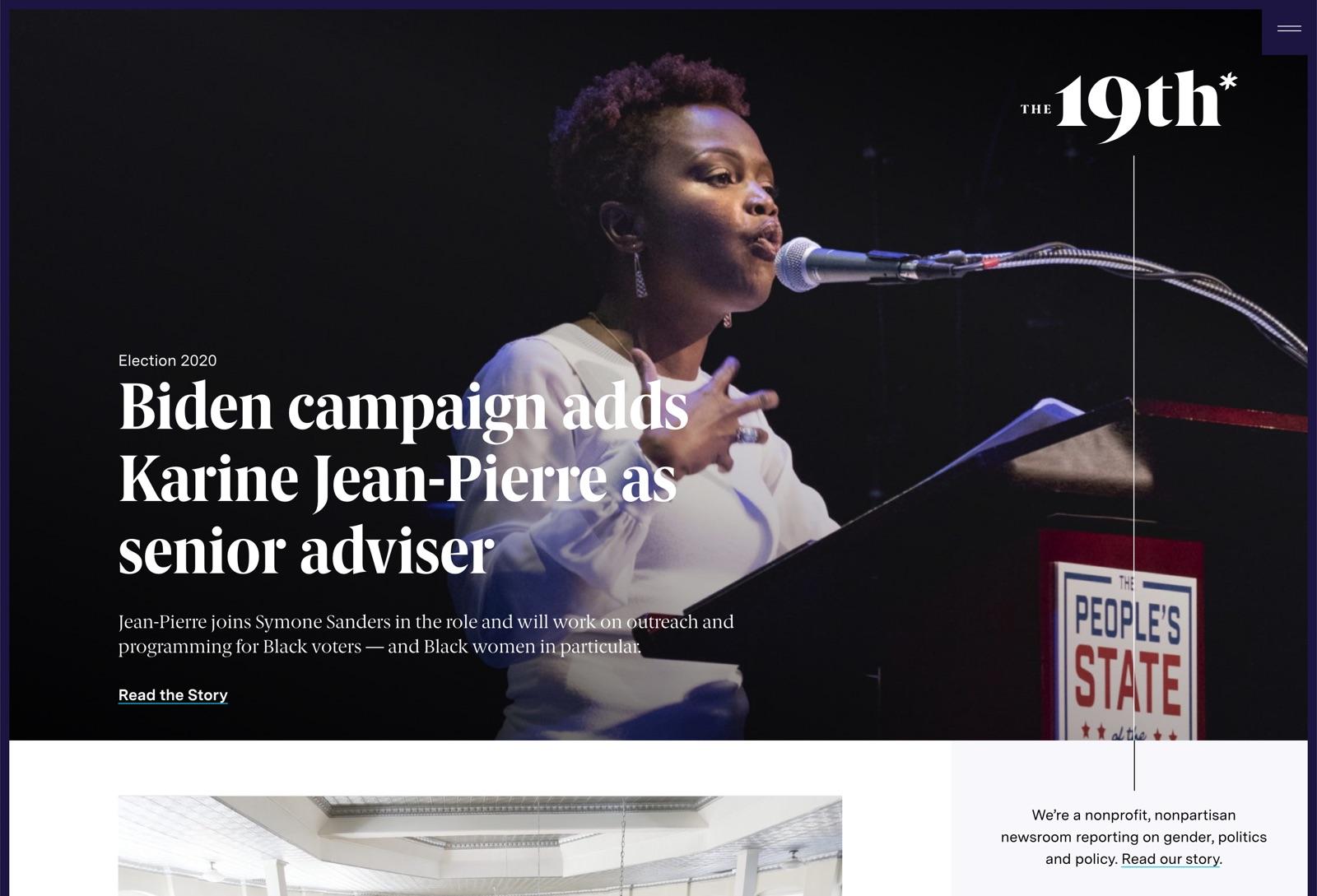 Article: Biden campaign adds Karine Jean-Pierre as senior adviser
