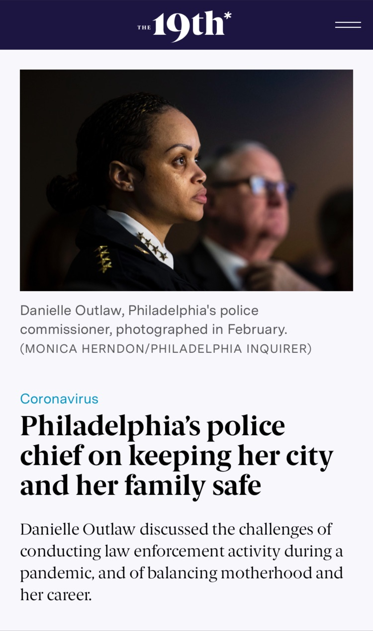 Article: Philadelphia's police chief on keeping her city and her family safe
