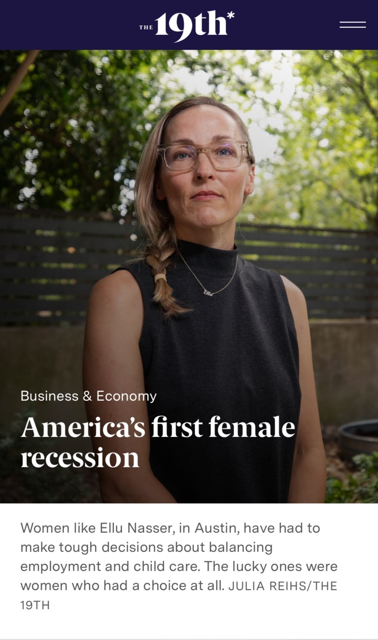 Article: America's first female recession