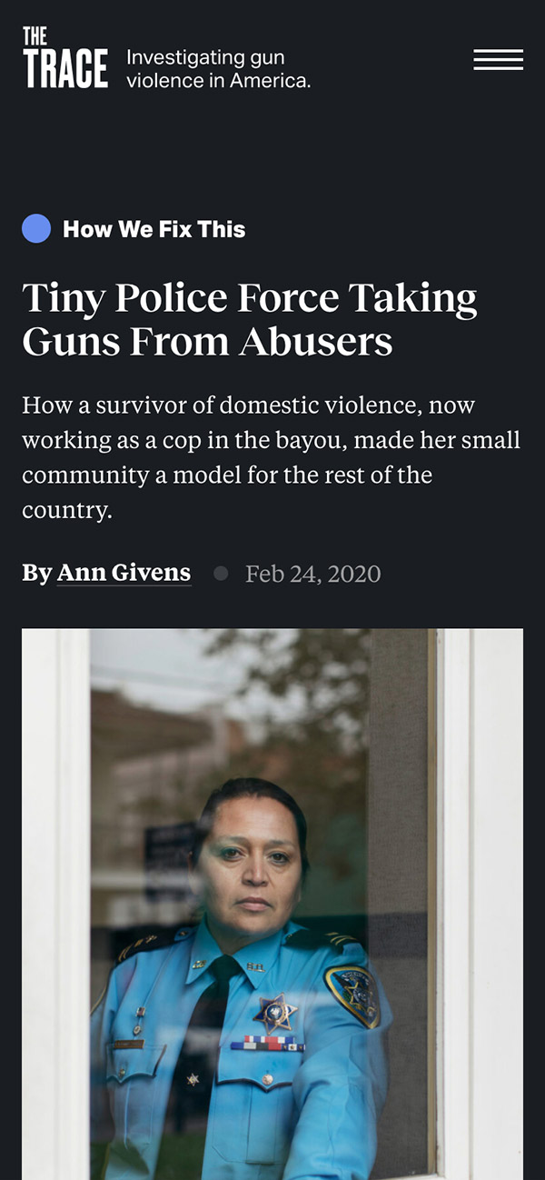 Article: Tiny Police Force Taking Guns From Abusers