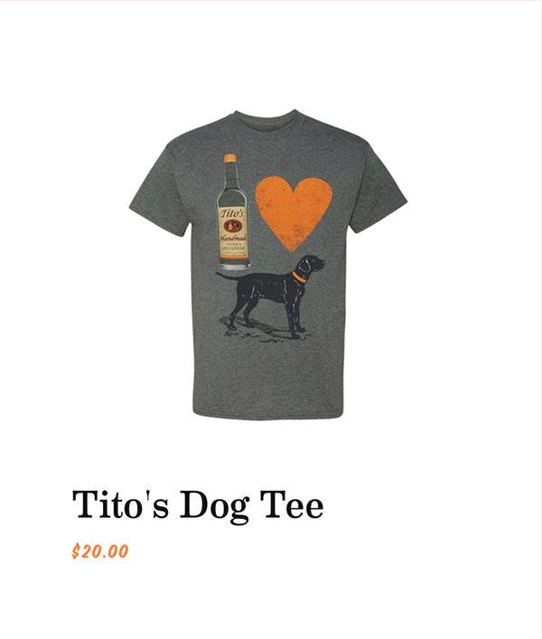Tito's Dog Tee