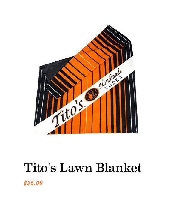 Tito's Lawn Blanket